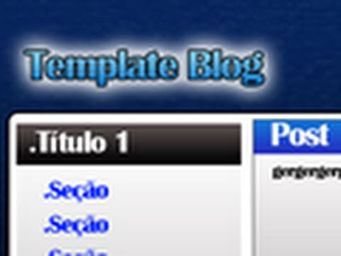 Video Aula Photoshop CS5 - Como fazer template para blog / site (HD)