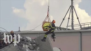 Italy: Rescuers work to free bridge collapse victims - WASHINGTONPOST