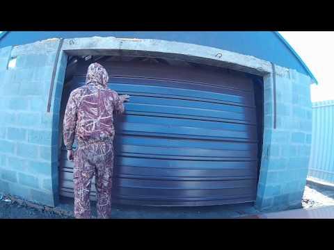 Ворота в гараж подъемные своими руками из профиля 92