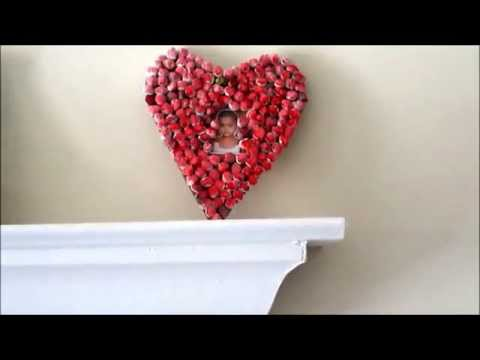 Recycle :Valentine Wall hanging out of recycled paper balls