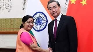 Beijing: Sushma Swaraj holds delegation-level talks with Chinese foreign minister Wang Yi - TIMESOFINDIACHANNEL