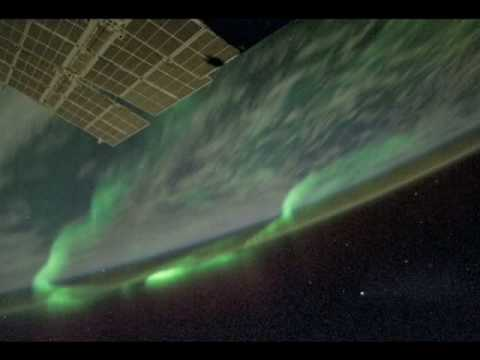 Animated Aurora Borealis, from Orbit