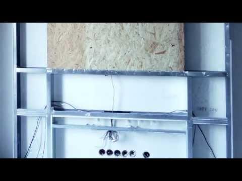 Zabudowa telewizora - konstrukcja z płyt kg DIY