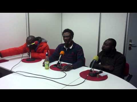 Nana kwaku bonsam in the studios of asomdwie fm amsterdam holland