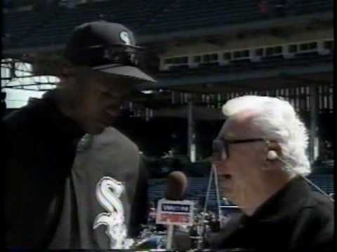 Michael Jordan w meczu Chicago White Sox z Chicago Cubs