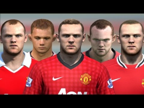 Wayne Rooney from FIFA 04 to 13 | HD 1080p