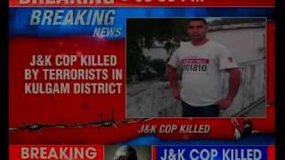 J&K cop killed by terrorists in Kulgam district; cop Mohammed Salim's bullet-ridden body recovered - NEWSXLIVE