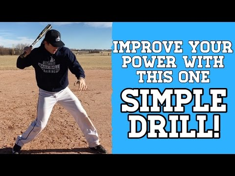 How to: Hit For Power In Baseball - EASY and EFFECTIVE Baseball Hitting Drill