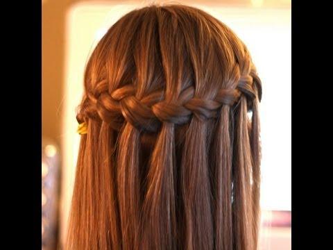 Peinado: Trenza de cascada, waterfall braid