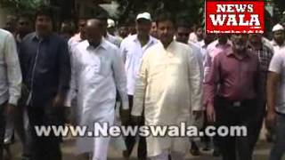 Mouzam Khan's door to door canvassing at Kishan Bagh - THENEWSWALA