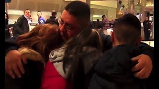 RAW: Family say emotional goodbye to father deported from US - RUSSIATODAY