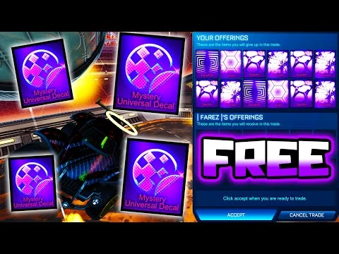 GIVING PEOPLE FREE MYSTERY DECALS IN ROCKET LEAGUE!!
