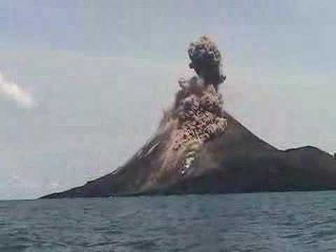 Krakatau Erupts up Close