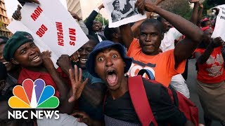 Celebrations In Zimbabwe As Robert Mugabe Resigns | NBC News - NBCNEWS