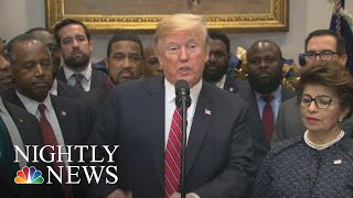 Trump: 'Opportunity Zones' Policy Amid Qun Of Whether Family Buz Could Benefit | NBC Nightly News - NBCNEWS