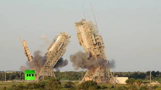 RAW: NASA iconic launch towers demolished in Cape Canaveral, Florida - RUSSIATODAY