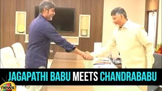 Actor Jagapathi Babu meets AP CM Chandrababu Naidu in Amaravati | Mango News - MANGONEWS
