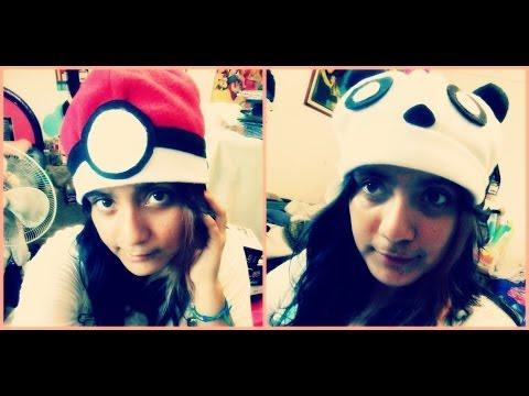 DIY Gorros kawaii de Panda,Pokebola ♥ Sheccid / Hat Panda, Pokebola
