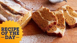 Recipe of the Day: Cheesecake-Stuffed Pumpkin Bread | Food Network - FOODNETWORKTV