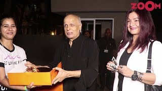 Alia, Pooja & Rahul Bhatt Celebrate Mahesh Bhatt's 70th Birthday | Bollywood News - ZOOMDEKHO
