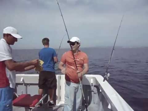 ловим скумбрию в море видео