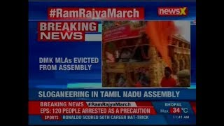 MK Stalin and other DMK MLAs court arrests following road roko outside Tamil Nadu Assembly - NEWSXLIVE