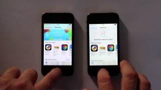 مقطع فيديو يقوم بمقارنة iPhone 4S مدعوم بنظام iOS 7 وآخر مدعوم بنظام iOS 8