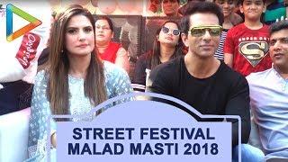 Guru Randhawa, Sonu Sood, Zareen Khan & others at Street Festival Malad Masti 2018 - HUNGAMA