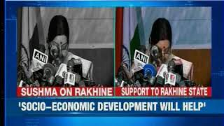 Indian external affairs minister Sushma Swaraj speaks on Rohingya crisis - NEWSXLIVE