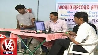 Hyderabad techie created World record in solving Rubik's cube - V6NEWSTELUGU