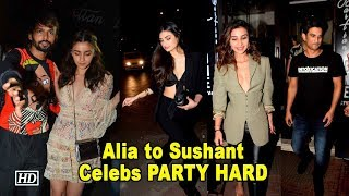 Alia, Sushant, Patralekha PARTY HARD at Akansha Ranjan's B'day - IANSLIVE