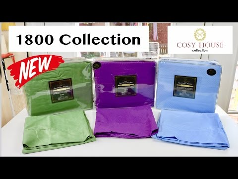 😍 COSY HOUSE  Elegant Designer 1800 Collection Bed Sheets  - A Quick Look ✅