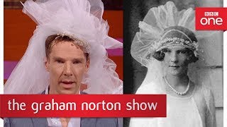 Benedict Cumberbatch recreates a photo of a 1920s bride - The Graham Norton Show: BBC One - BBC