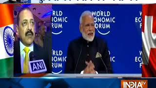 WEF 2018 in Davos: PM Modi terms climate change, terrorism, threats to globalisation - INDIATV
