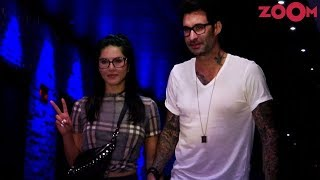 Sunny Leone With Husband Daniel Weber Spotted At 'Hakkasan' In Bandra - ZOOMDEKHO