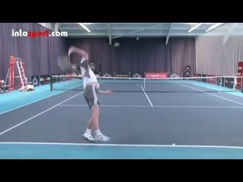 Học Giao bóng Tennis _ TopSpin _ bóng xoáy _ độ nảy cao _ Nặng bóng