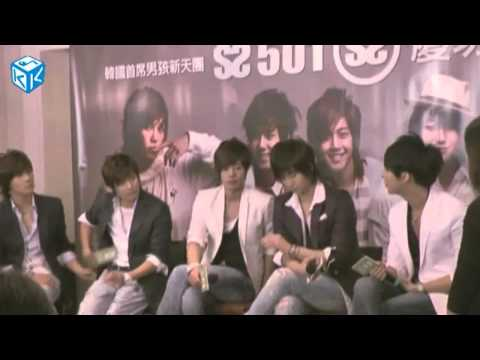 [Eng Sub CC] SS501 Taiwan Press Conference on KKBOX 090629 (Part 2/2)