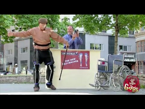 Crazy Old Man Walking Machine Prank
