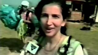 Campeonato de Vôo Livre no Programa Corpo em Ação da TV Tribuna afiliada a Rede Globo em 19/07/1997