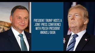 President Trump Hosts A Joint Press Conference with Polish President Andrzej Duda - VOAVIDEO