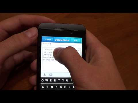 Copy and Paste, Word Correction on BlackBerry 10