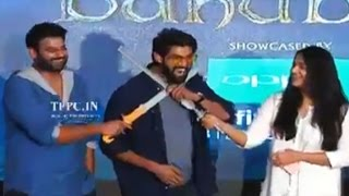 Rana Making Super Fun With Prabhas and Anushka @ The World Of Baahubali Launch | TFPC - TFPC