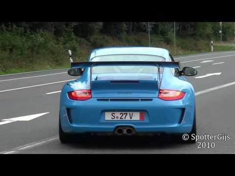 Mexico blue Porsche 997 GT3 RS MK2 sound - accelerations; 1080p HD