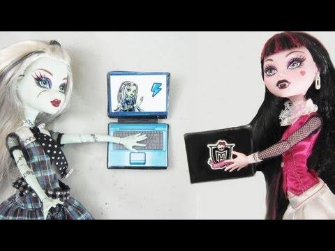 Manualidades para muñecas: Haz  un laptop para muñecas con cartón reciclado y cinta adhesiva