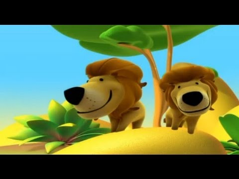 The Lion, Alex in the Jungle - Cartoon to Learn about animals, for children