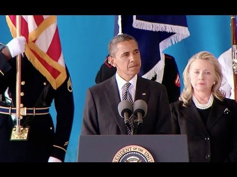 President Obama Speaks at Ceremony for Benghazi Victims