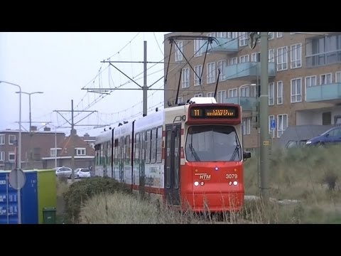 HTM GTL-8 trams (3139 en 3079) te Scheveningen Haven