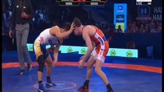 PWL 3 Day 12: Erdenebatyn Bekhbayar Vs Vladimir Khinchegashvili at Pro Wrestling League season 3 - ITVNEWSINDIA