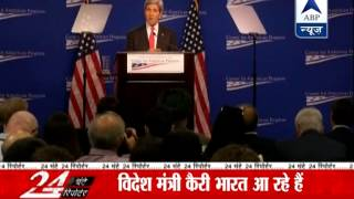 John Kerry hails Modi for inviting Sharif for swearing-in ceremony - ABPNEWSTV