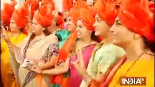 BJP's women MLAs in traditional Marathi attire - INDIATV